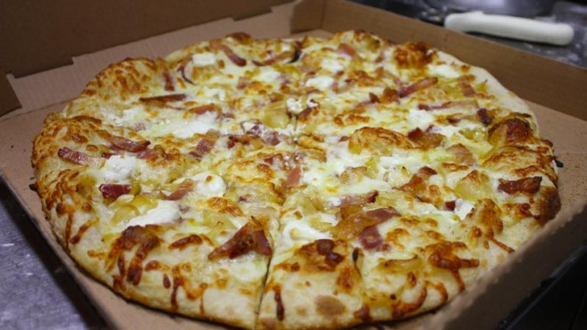Nick's popular Tarte Flambée pizza. Photo courtesy of Nick's.