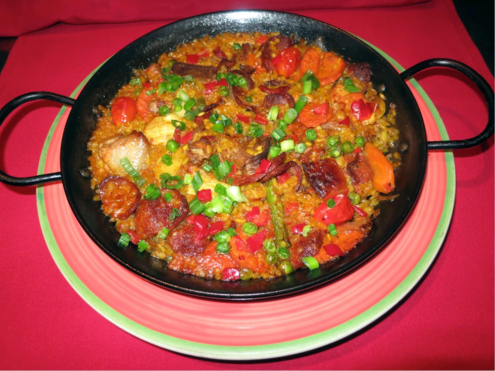 Paella from Cascal Restaurant in Mountain View. Photo courtesy of Cascal.