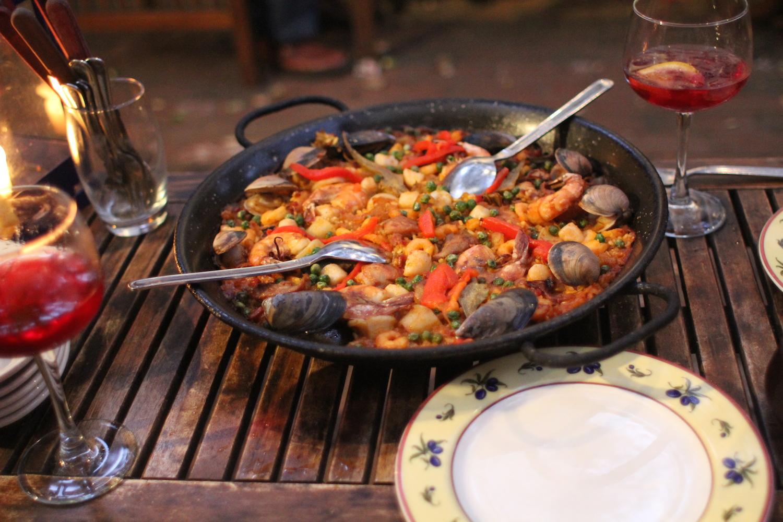 Paella from Iberia restaurant in Menlo Park. Photo: Angela Johnston