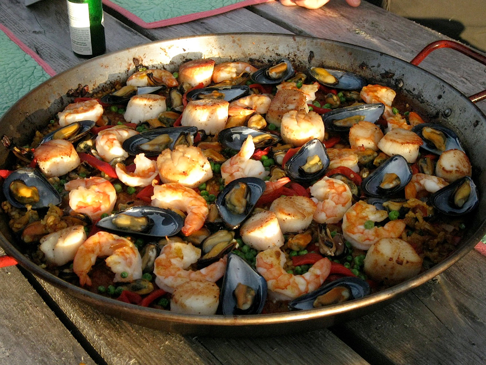 Homemade Paella. Photo: Angela Johnston