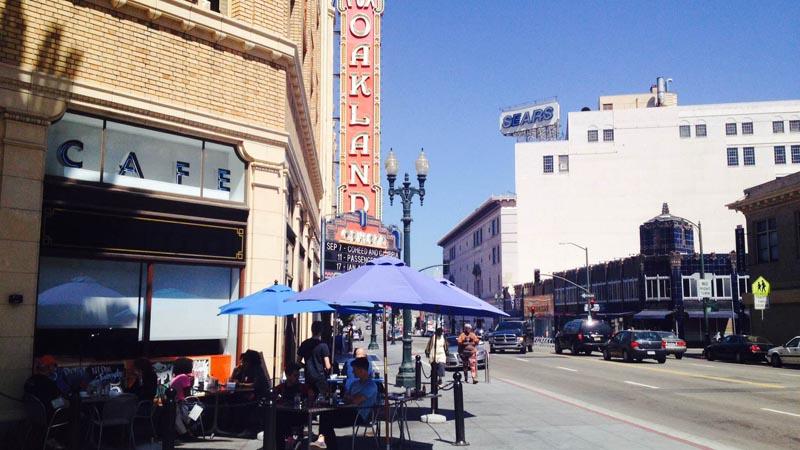 Rudy's sidewalk seating on Telegraph. Photo: Adrienne DeAngelo