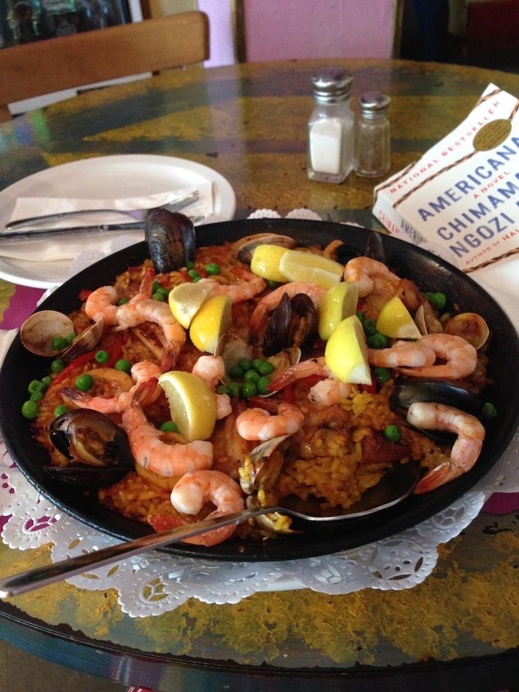 The mixed paella at Esperpento. Photo: Angela Johnston