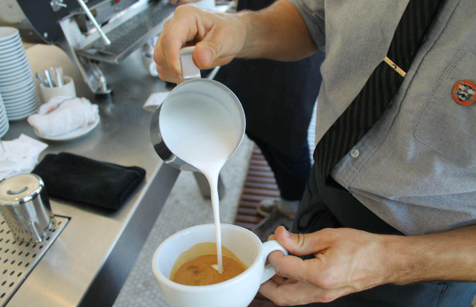 The right kind of dairy plays an important role in making espresso drinks Photo: Shelby Pope