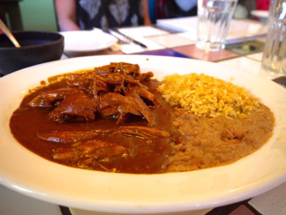 San Jalisco's chocolate mole. photo: Lila Volkas