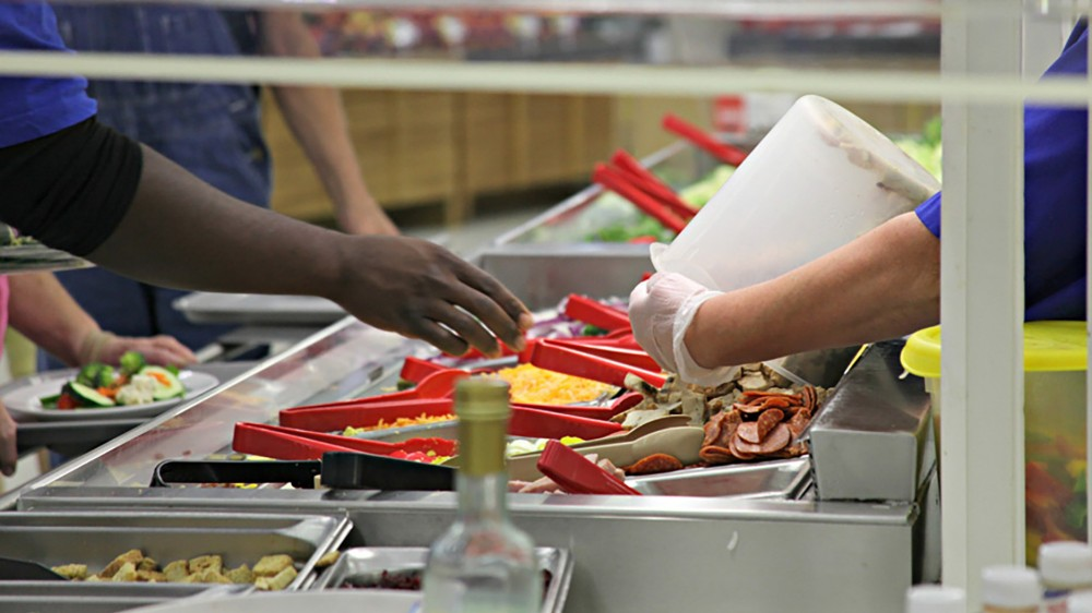 Most of the unsold salad bar food at the Hy-Vee store in Independence, Mo., will be sent to composting. Photo: Kristofor Husted/Harvest Public Media