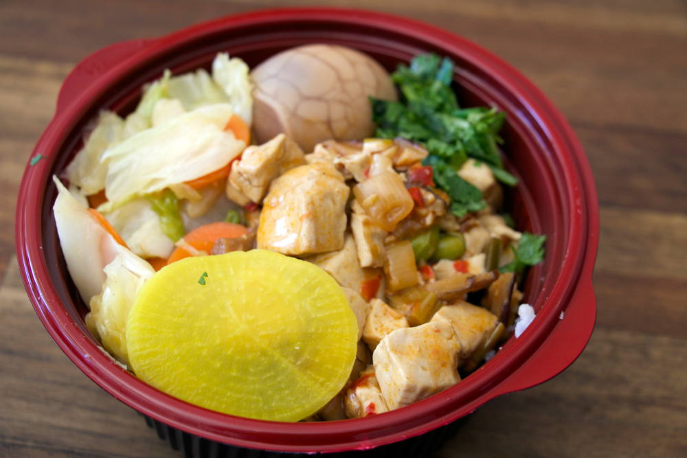 Ma-po tofu bento bowl. Photo: Kim Westerman