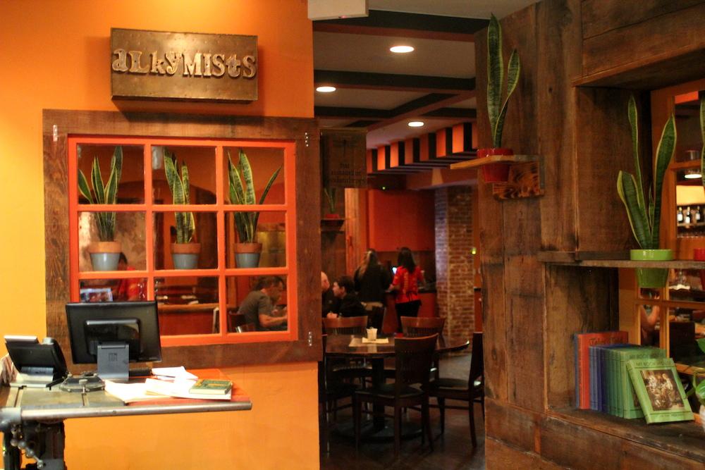 Inside Alkymists restaurant. Credit: Angela Johnston
