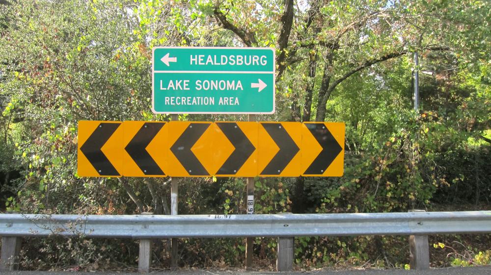 Towards Healdsburg