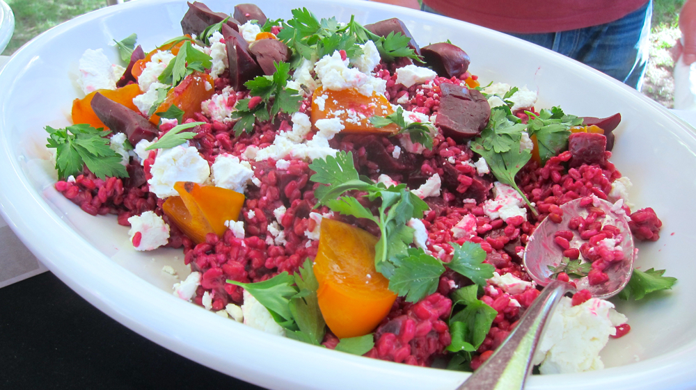 Farro with Roasted Beets and Persimmons