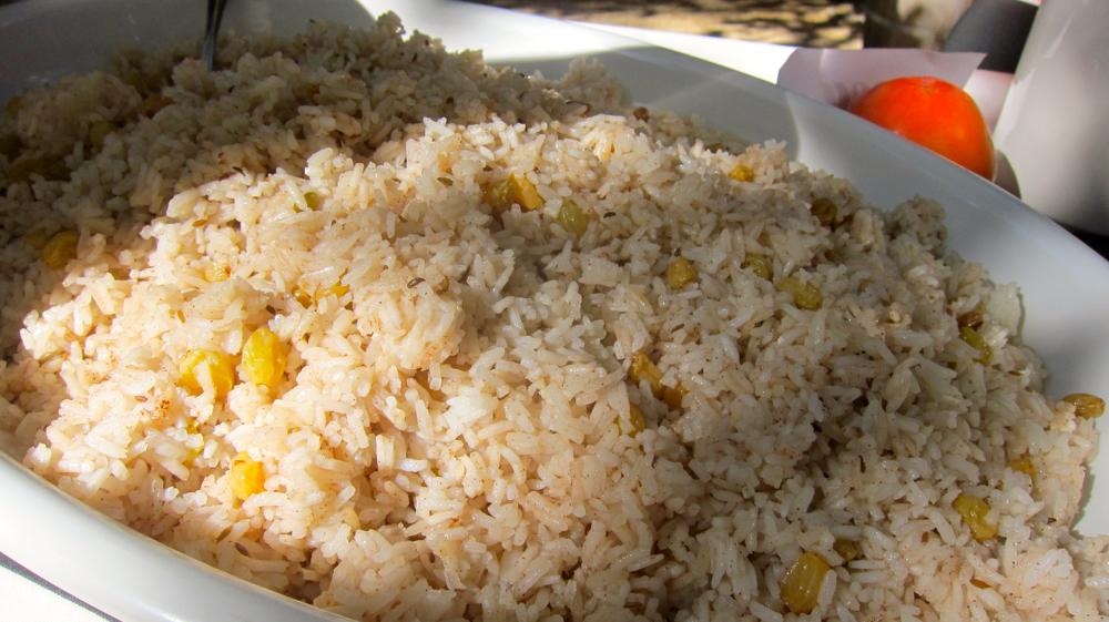 Jasmine Rice with Gold Raisins and Wild Fennel Vinaigrette