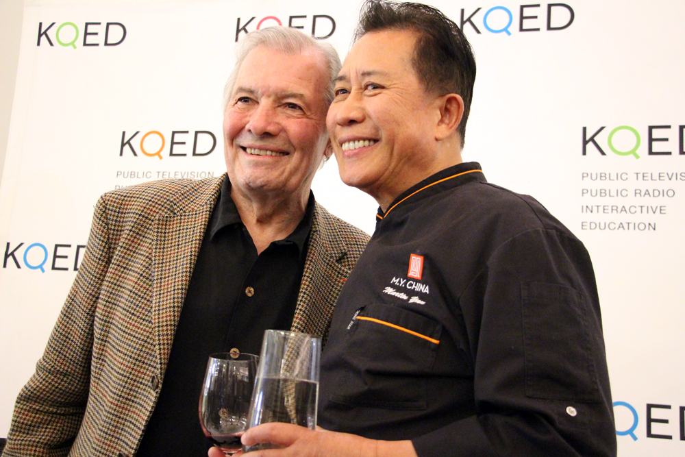Jacques Pépin and Martin Yan at the KQED event Under the Dome at Westfield SF Centre
