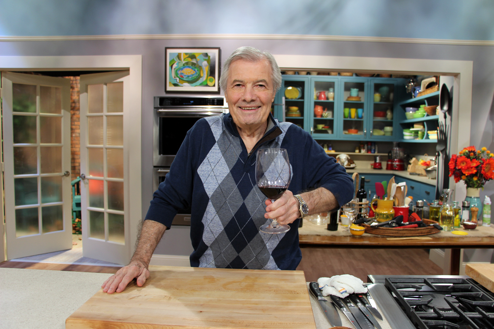 Jacques Pépin taping on the set of Heart & Soul at KQED. Photo: Wendy Goodfriend