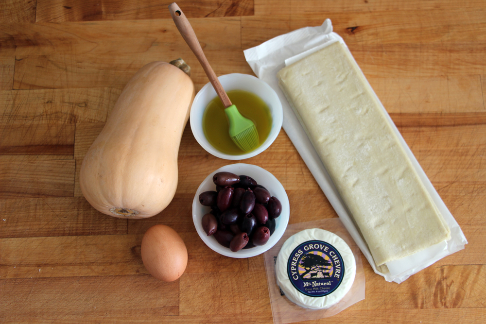 Ingredients for Roasted Butternut and Goat Cheese Mummy Tartlets. Photo: Wendy Goodfriend