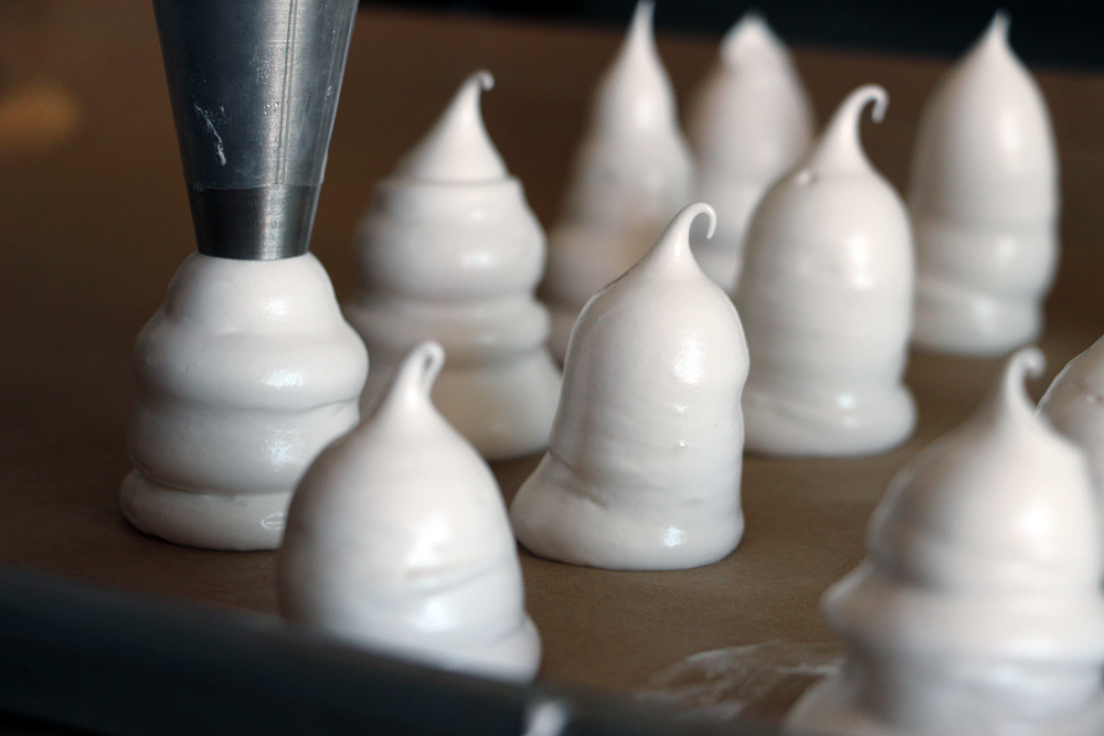Boo! Cute (and gluten-free) Ghost Meringue Cookies for Halloween