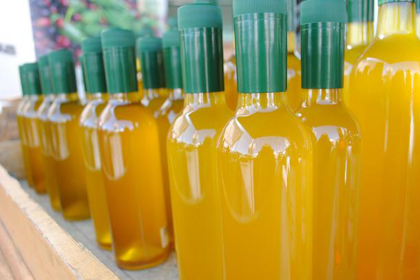 Sciabica unlabeled olive oil. Photo courtesy of CUESA