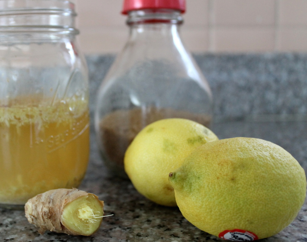 To finish brewing the ginger beer, you'll need more sugar and ginger, plus a couple of lemons for acidity. Photo: Kate Williams