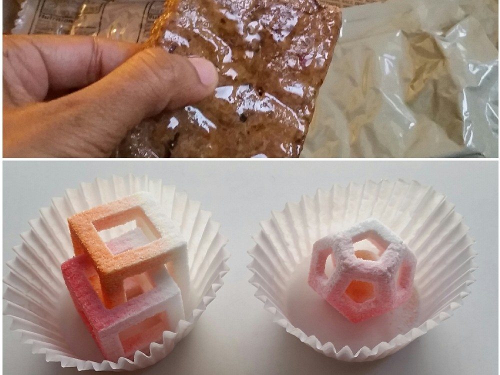 Army researchers will try to find ways to 3-D print nutritious food with less heavy packaging than the current military meals. Photo: Aarti Shahani/NPR