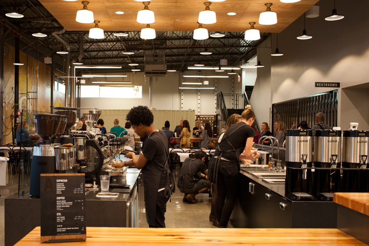 Allegro Coffee Roasters at the new Whole Foods opens at 6 a.m daily. Photo: Emilie Raguso