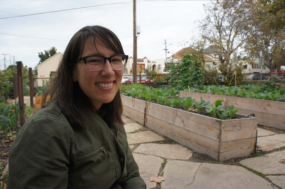 Ariel Dekovic - the interim executive director for City Slicker Farms. Photo: Angela Johnston