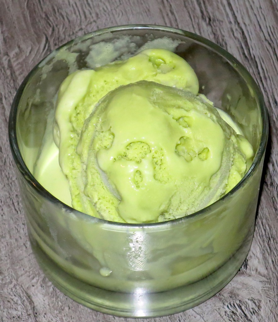 Matcha-tapioca ice cream at Joshu-Ya Brasserie. Photograph by Kristan Lawson