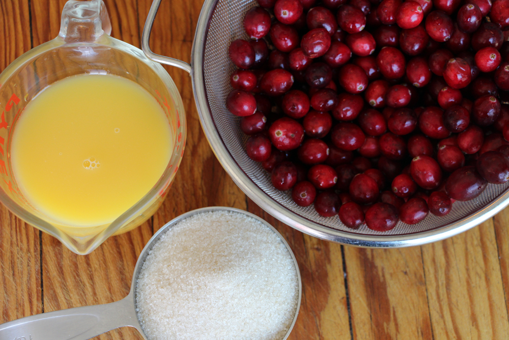 Cranberry Compote ingredients. Photo: Wendy Goodfriend
