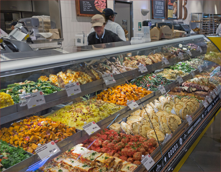 The deli counter at Whole Foods Gilman on opening day. Photo Neil Mishalov