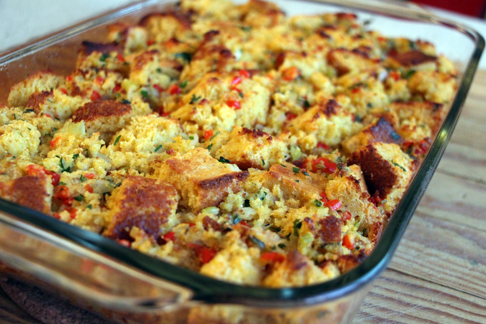 Gluten-Free Cornbread and Red Pepper Stuffing. Photo: Wendy Goodfriend