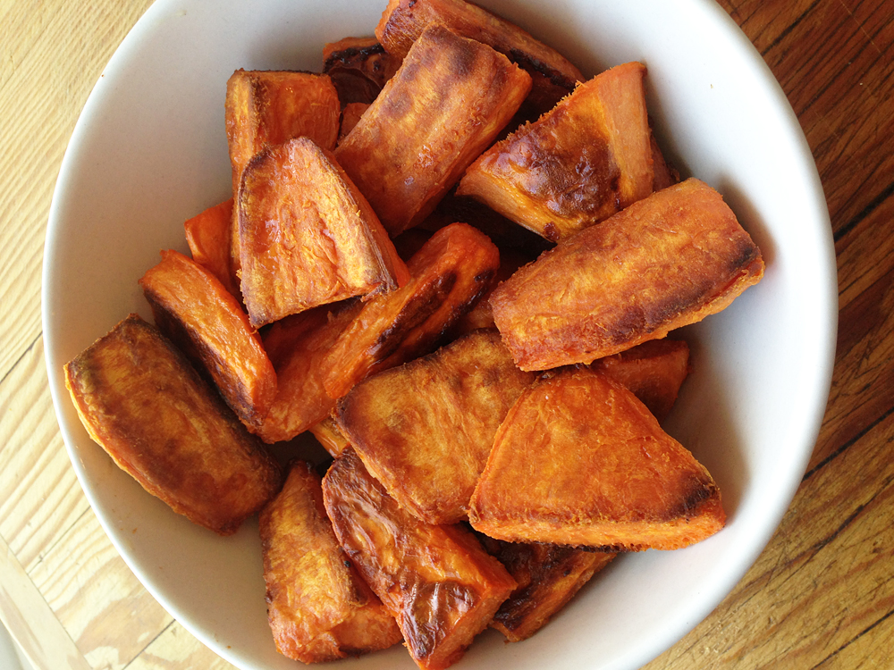 British-Style Roasties: Sweet Potato Version
