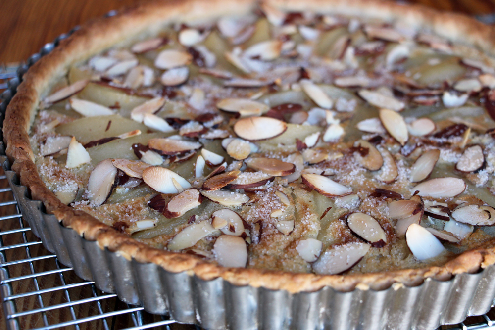 Pear Almond Custard Tart. Photo: Wendy Goodfriend
