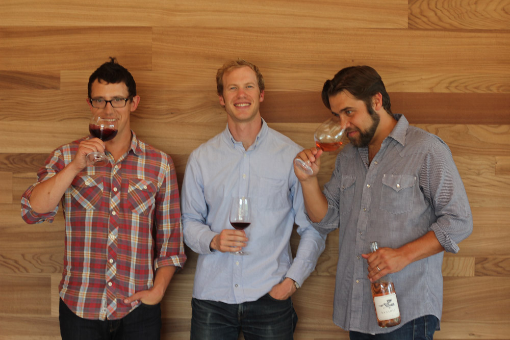 "The three young founders of Banshee (left to right: Baron Ziegler, Steve Graf, Noah Dorrance) have dreams of becoming a ""real winery,"" they say. Photo: Banshee Wines"