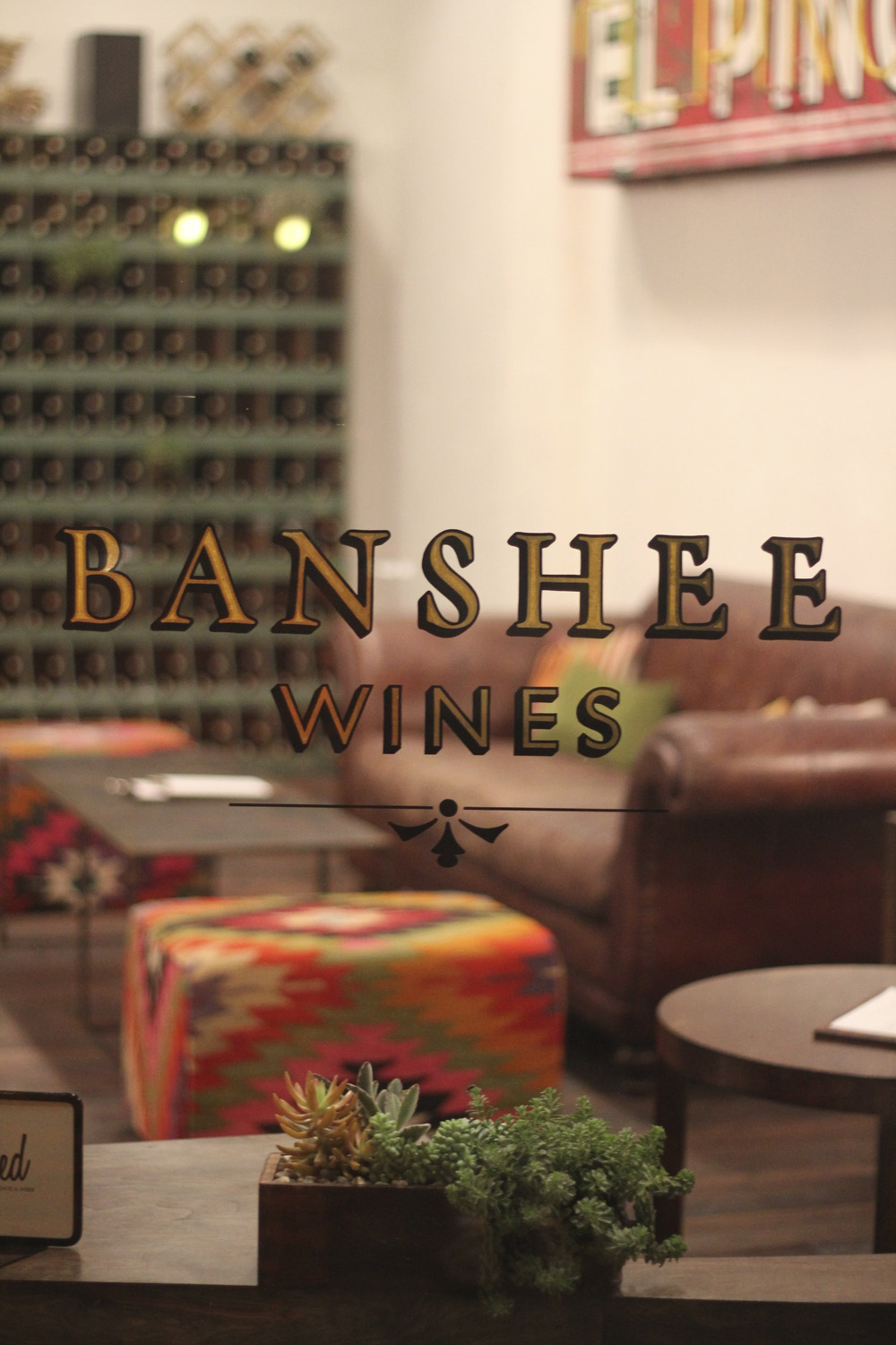 Opened in 2013, Banshee's downtown Healdsburg tasting room has become a popular place to sip wine and munch on snacks from local chefs. Photo: Banshee Wines