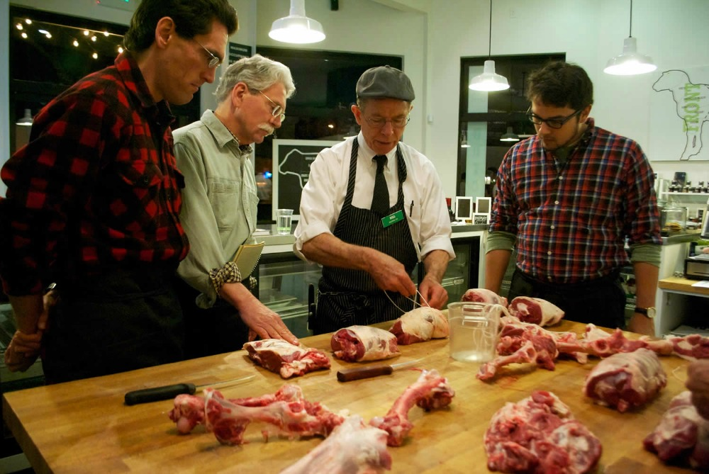 A class at The Local Butcher Shop in Berkeley. Photo: Monica Rocchino