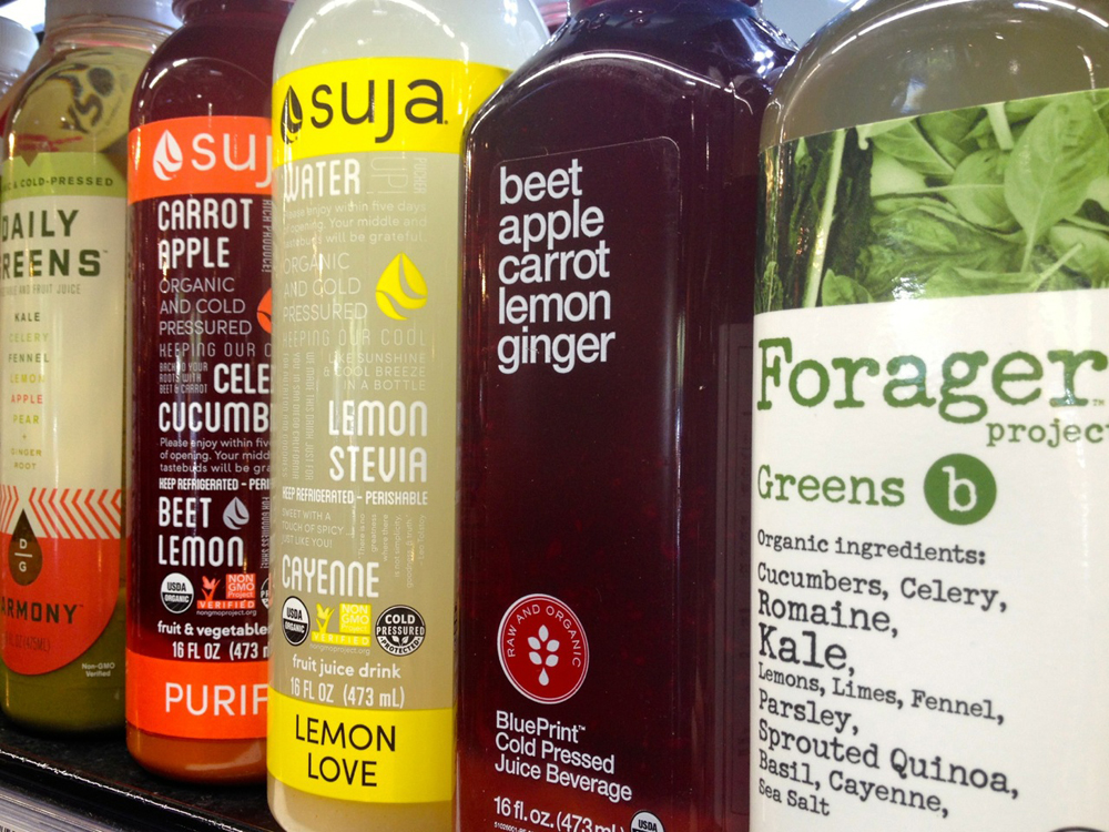 Cold pressed juices retain more nutrients than other extraction methods. Photo: Lisa Landers