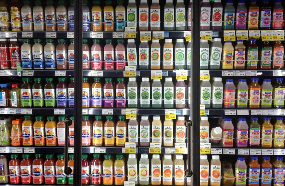 Will a juice a day keep the doctor away bay area juiceries entice one of two walls of juice at a bay area whole foods photo malvernweather Choice Image