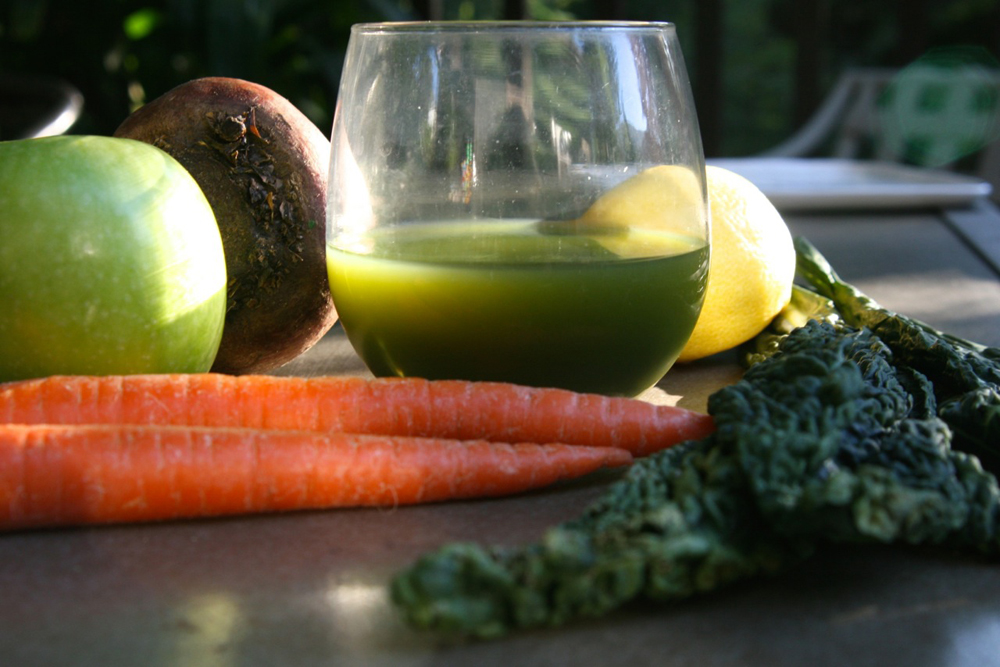 Fresh fruit and vegetable juice. Photo: Lisa Landers