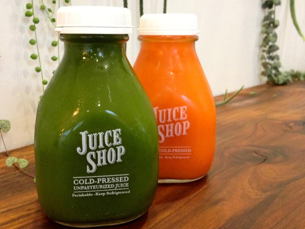 Juice Shop juices. Photo: Lisa Landers