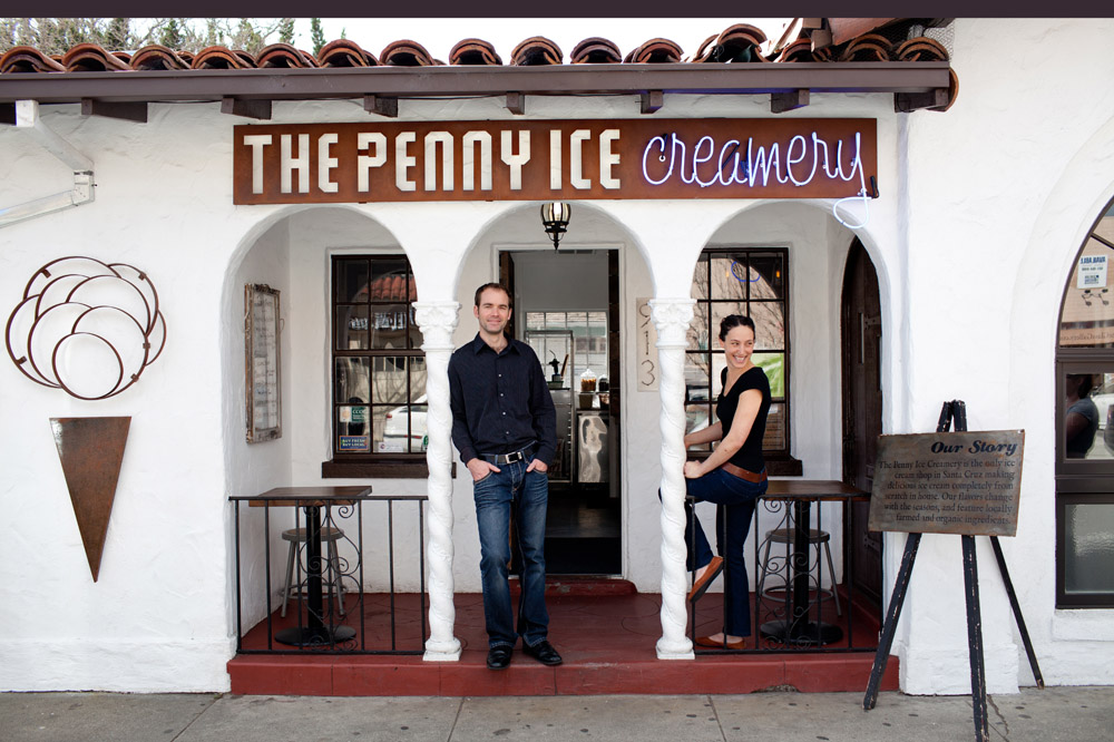 The first food business the partners opened was an ice cream parlor where everything -- even the ripples and add-ins -- is made from scratch. Photo: Molly Watson