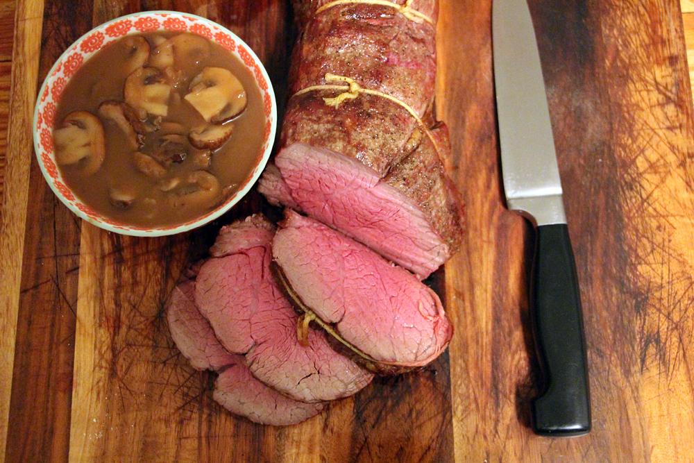Carve the meat into 1/2-inch thick slices and serve with the sauce. Photo: Wendy Goodfriend