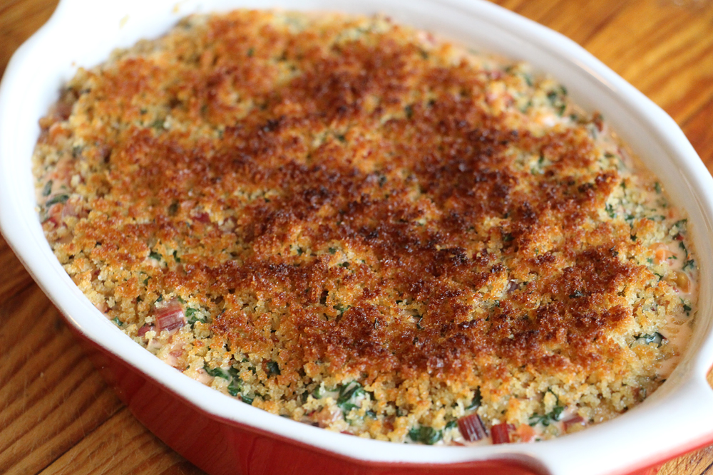 Creamed Chard with Buttery Breadcrumbs. Photo: Wendy Goodfriend