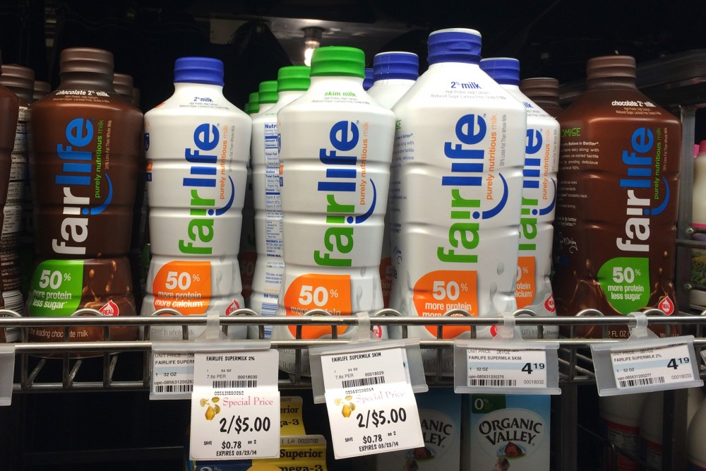 Fairlife milk, shown here on sale in Minneapolis, Minn., in April, is a partnership between Coca-Cola and Select Milk Producers, a dairy cooperative that owns Fair Oaks Farms. Photo: Courtesy of Alice Seuffert