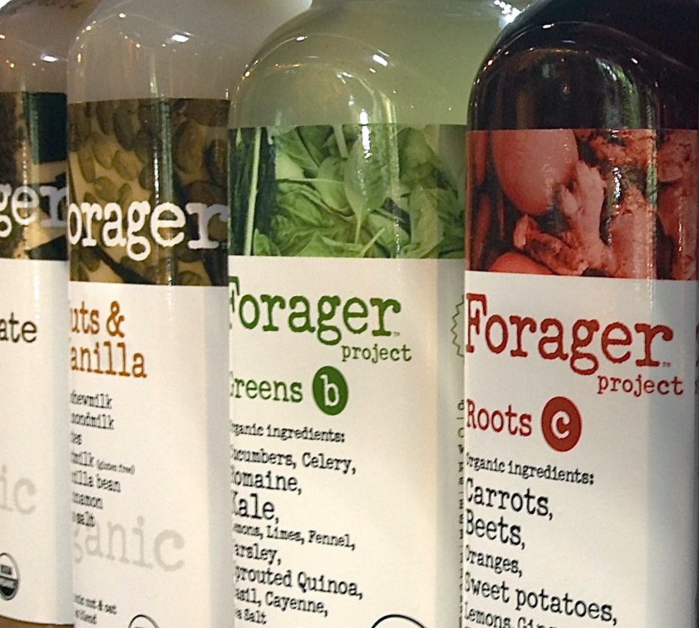 The Forager Project juices. Photo: Lisa Landers