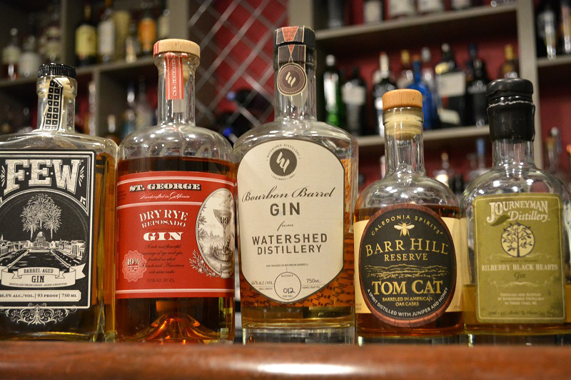 A sampling of the barrel-aged gins available at The Gin Room inside Cafe Natasha's in St. Louis, Mo. Photo: Courtesy of Natasha Bahrami