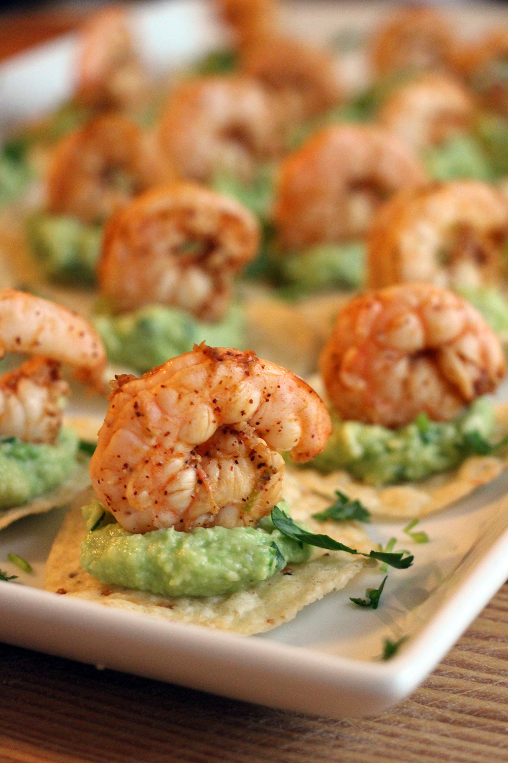 Chili-Lime Shrimp and Guacamole Tostadas. Photo: Wendy Goodfriend