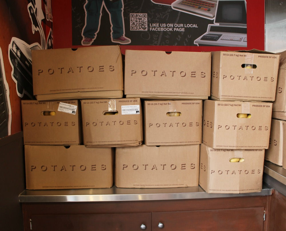 The potatoes that go into your poutine at Smoke's. Photo: Shelby Pope