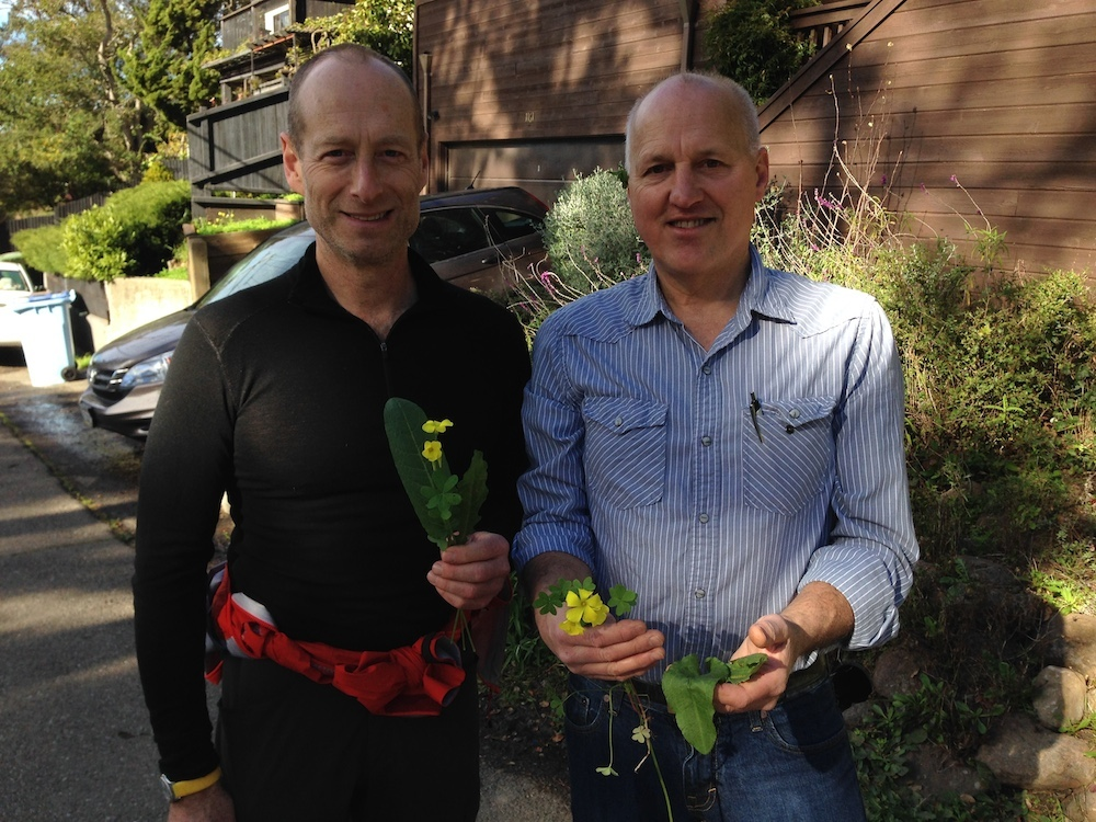 Philip Stark and Tom Carlson call themselves botanical rubberneckers. Photo: Angela Johnston