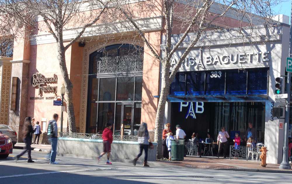 While the majority of Palo Alto's teeming restaurant scene comprises individually owned  eateries, some chains like Cheesecake Factory and Paris Baguette have also come to town. Photo: Susan Hathaway