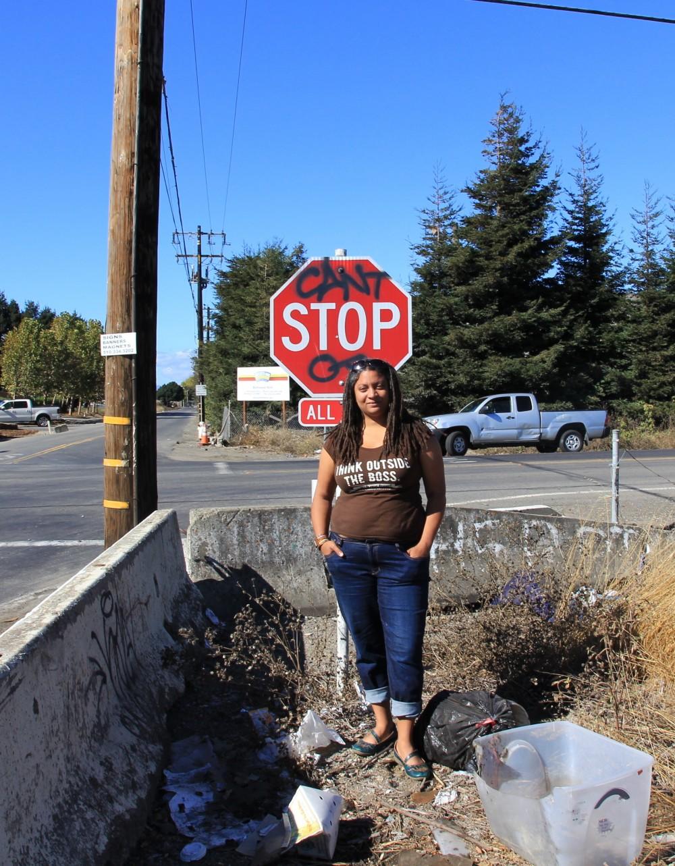 Doria Robinson in Richmond, California. Photo: Twilight Greenaway