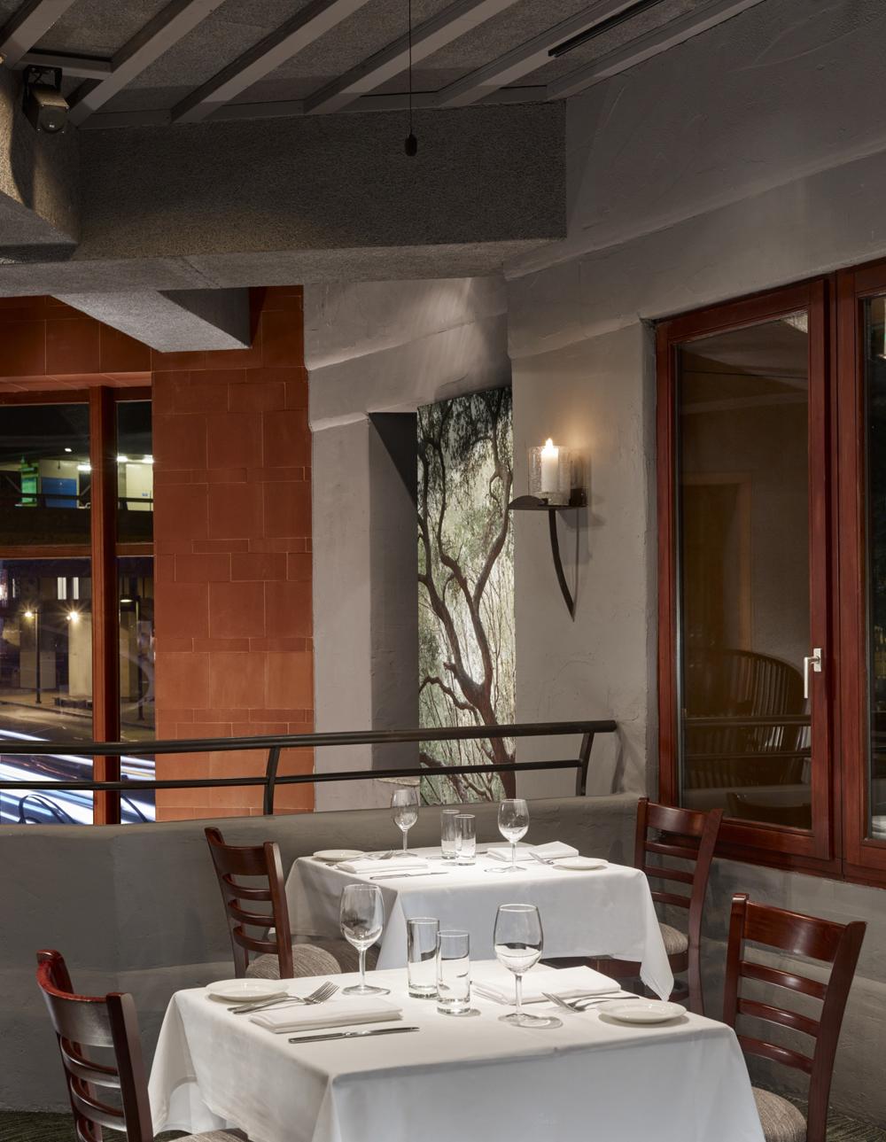 Oliveto upstairs dining area. Photo: Cesar Rubio