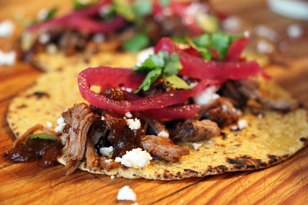 Slow-Cooker BBQ Pulled Pork Tacos. Photo: Wendy Goodfriend