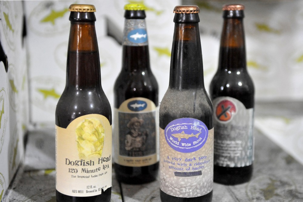 A stash of vintage beers at Dogfish Head Brewery in Delaware. Photo: Courtesy of Dogfish Head Craft Brewery
